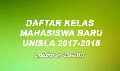 Daftar Kelas Mahasiswa Baru 2017