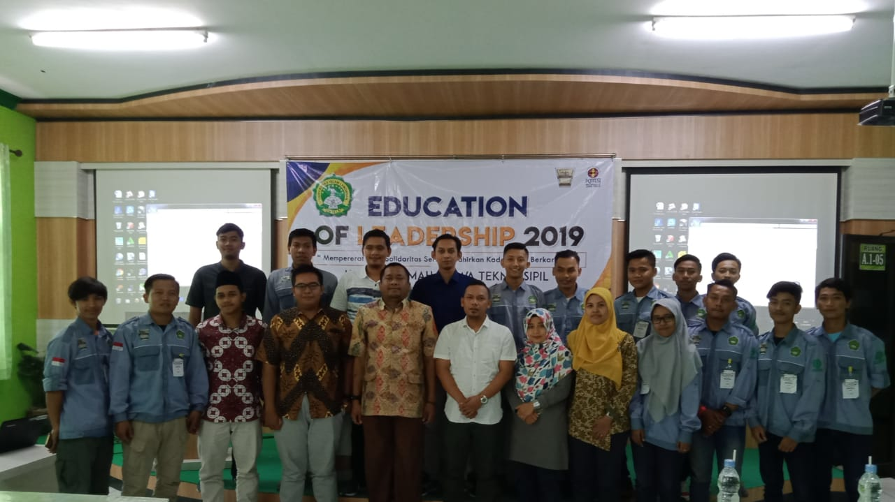 Mahasiswa Teknik Sipil Unisla Digembleng dalam Education of Leadership