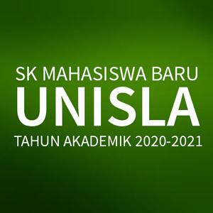 Surat Keputusan Rektor Penetapan Mahasiswa Baru Unisla Tahun 2020